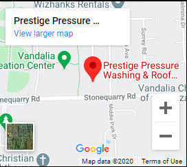 Prestige Pressure Washing Map